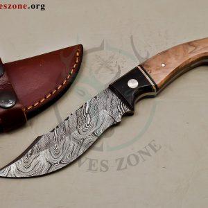Custom Made Damascus Steel Fixed Blade e 471