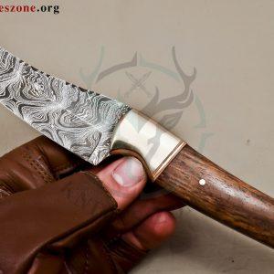 Custom Made Damascus Steel Fixed Blade e 472