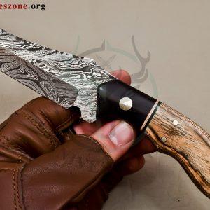 Custom Made Damascus Steel Fixed Blade 474