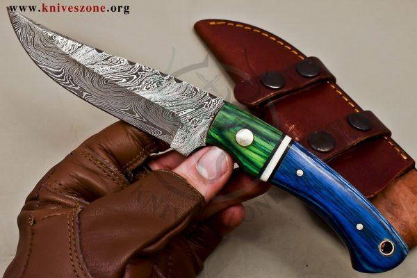 Custom Made Damascus Steel Fixed Blade  475