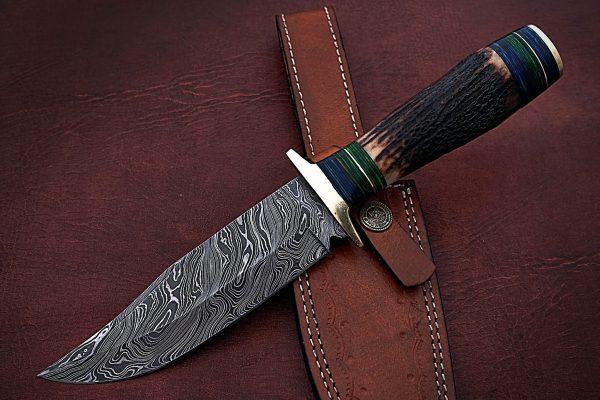 damascus steel bowie knife
