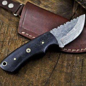 Handmade Damascus Full Tang Camping Skinning Knife