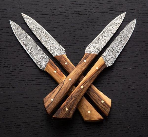 DAMASCUS STEEL STEAK KNIVES
