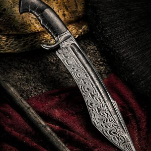"""Blade Length: 12"""" Overall Length: 17"""" Handle: Wood Sharp Knife and Holds an Edge Comes With Black Leather Sheath"""
