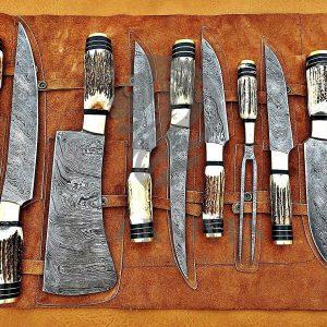 Damascus Knives Set