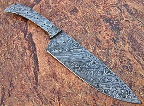 Damascus Steel Knife blank Bolster