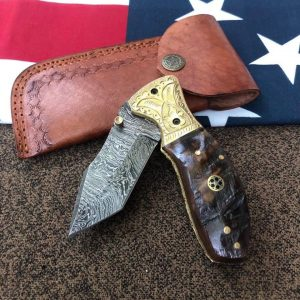 damascus steel knife made with steel